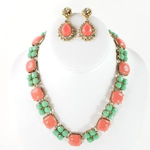J. Crew Statement Necklace + Earrings